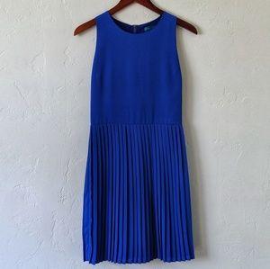 Pim + Larkin Pleated Blue Dress